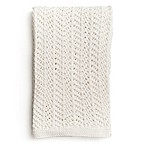 zestt Boho Organic Cotton Knit Throw in White