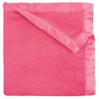 Elegant Baby Coral Fleece Blanket in Bright Pink
