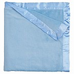 Elegant Baby Coral Fleece Blanket in Bright Blue