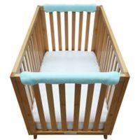 Go Mama Go Designs® 30-Inch x 12-Inch Minky Teething Guard in Aqua (Set of 2)