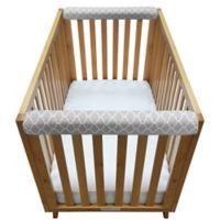 Go Mama Go Designs® Arabesque 30-Inch x 6-Inch Teething Guard in Grey (Set of 2)