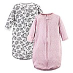 Hudson Baby® 2-Pack Toile Long Sleeve Sleeping Bag in Pink/Black