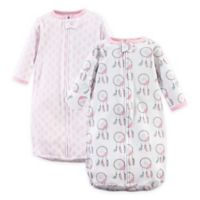 Hudson Baby® 2-Pack Dreamcatcher Long Sleeve Sleeping Bag in Pink