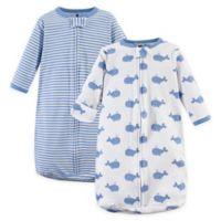 Hudson Baby® 2-Pack Whale Long Sleeve Sleeping Bag in Blue