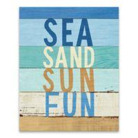 Artissimo Designs™ Beachscape Inspiration VIII 16-Inch x 20-Inch Canvas Wall Art
