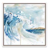 Artissimo Designs™ Malibu Surf I 19-Inch Square Framed Canvas Wall Art