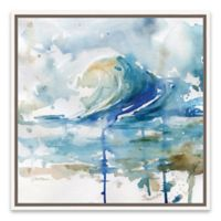 Artissimo Designs™ Malibu Surf II 19-Inch Square Framed Canvas Wall Art