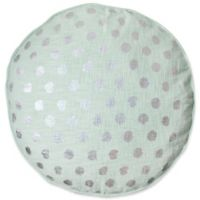 Foil Dot Round Floor Throw Pillow in Mint