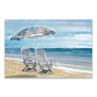 Artissimo Designs™ Beach Umbrella 36-Inch x 24-Inch Embellished Printed Canvas Wall Art