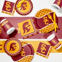 University of Southern California 89-Piece Game Day Party Supplies Kit