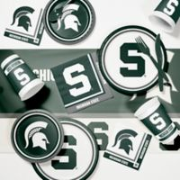 Michigan State University 89-Piece Game Day Party Supplies Kit