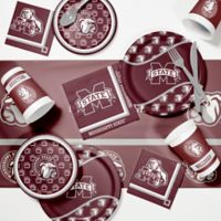 Mississippi State University 89-Piece Game Day Party Supplies Kit