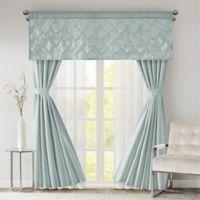 510 Designs Vivian 84-Inch Rod Pocket 7-Piece Window Curtain Set in Dusty Aqua