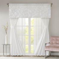 510 Designs Vivian 84-Inch Rod Pocket 7-Piece Window Curtain Set in White