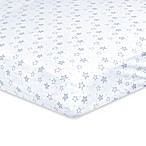 Just Born® Dream Star Print Fitted Crib Sheet in Navy