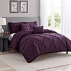 Cambridge 5-Piece Queen Comforter Set in Purple