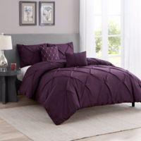 Cambridge 5-Piece King Comforter Set in Purple