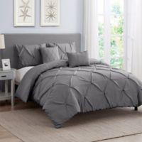 Cambridge 5-Piece King Comforter Set in Grey