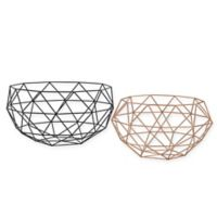 Sterling Industries Connect 2-Piece Bowl Set in Gold/Black