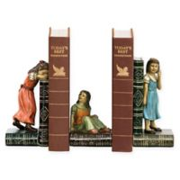 Sterling Industries Child Games 3-Piece Bookend Set