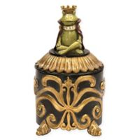 Sterling Industries Prince Frog Decorative Box in Gold