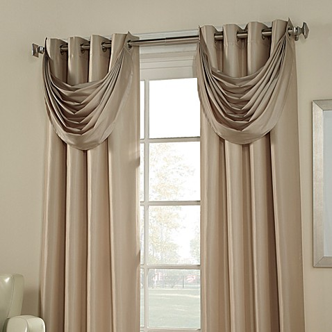 Argentina room darkening waterfall valance bed bath beyond for Bed bath and beyond curtains for living room