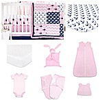 The Peanut Shell® Pink Whale 11-Piece Sleep Essentials Crib Set