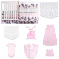 The Peanutshell™ Colette 11-Piece Sleep Essentials Crib Set