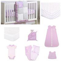 The Peanutshell™ Wild and Free Patchwork 11-Piece Sleep Essentials Crib Set in Purple