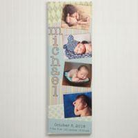 Scrapbook Memories Baby Photo Canvas Print