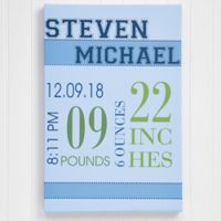 Baby's Big Day Canvas Print For Boys