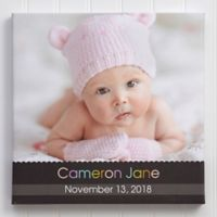 Little Memories Personalized Baby Photo Canvas Print