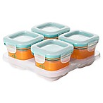 OXO Tot® 4 oz. Glass Baby Food Storage Blocks in Teal (Set of 4)