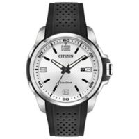 Citizen Eco-Drive Action Required Men's 45mm Watch with Black Polyurethane Strap