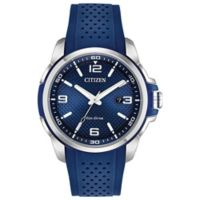 Citizen Eco-Drive Action Required Men's 45mm Watch with Blue Polyurethane Strap