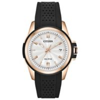 Citizen Eco-Drive Ladies' 38mm Action Required Watch in Rose Goldtone Stainless Steel