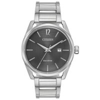 Citizen® Eco-Drive Men's 42mm Check This Out Watch in Stainless Steel