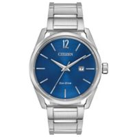 Citizen Eco-Drive Men's 42mm Stainless Steel Bracelet Watch with Blue Dial