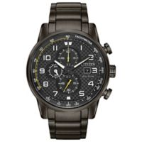 Citizen® Eco-Drive Men's 45mm Primo Chronograph Watch in Grey Stainless Steel
