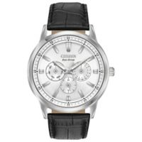 Citizen Eco-Drive Men's 44mm Corso Watch in Stainless Steel with Brown Leather Strap