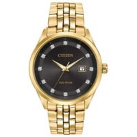 Citizen® Eco-Drive Corso Men's 41mm Diamond-Accent Watch in Goldtone Stainless Steel