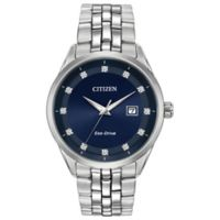 Citizen® Eco-Drive Corso Men's 41mm Diamond-Accent Watch in Stainless Steel