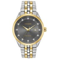 Citizen® Eco-Drive Corso Men's 41mm Diamond-Accent Watch in Two-Tone Stainless Steel