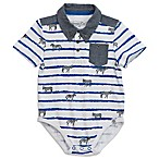 Sovereign Code™ Size 0-3M Striped Zebra Polo in White