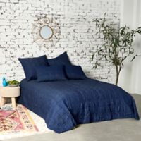 Finn Reversible Twin Quilt in Blue