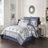 Beautyrest® Indochine 4-Piece Queen Comforter Set in Blue