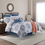 Skylar 10-Piece King Comforter Set in White/Blue