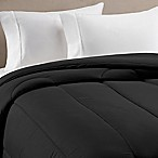 Equip Your Space Solid Twin/Twin XL Comforter in Black