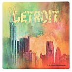 Thirstystone® Dolomite Sending Love to Detroit Single Square Coaster
