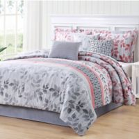 Carmela Home Breezy Reversible 7-Piece King Comforter Set in Coral
